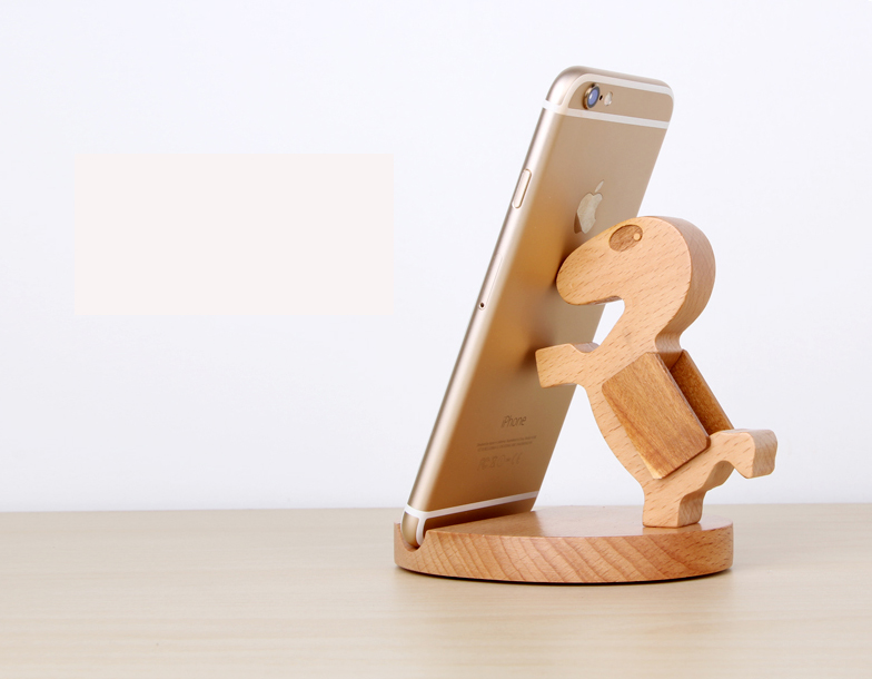 Wooden phone holder iphone table stand for ipad air